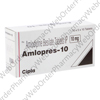 Amlopres (Amlodipine Besilate) - 10mg (10 Tablets) P1